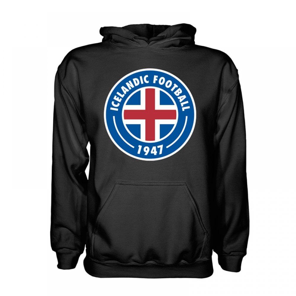 Iceland Core Logo Hoody (Black) Kids B077S12LRY LB (9-11 Years)|Black Black LB (9-11 Years)