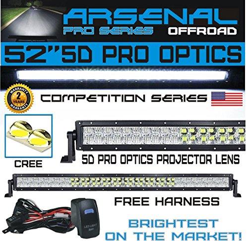 No.1 5D 52 inch Pro Optics Straight 300W 5D=500W 50,000LM CR