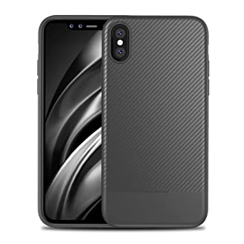 the best attitude 98eee 02d5c Apple iPhone X Cases, [DEMEDO] iPhone X Carbon Fiber Protective Cover,  Camera Protection, Fashion Back Shell for iPhone X - Gray