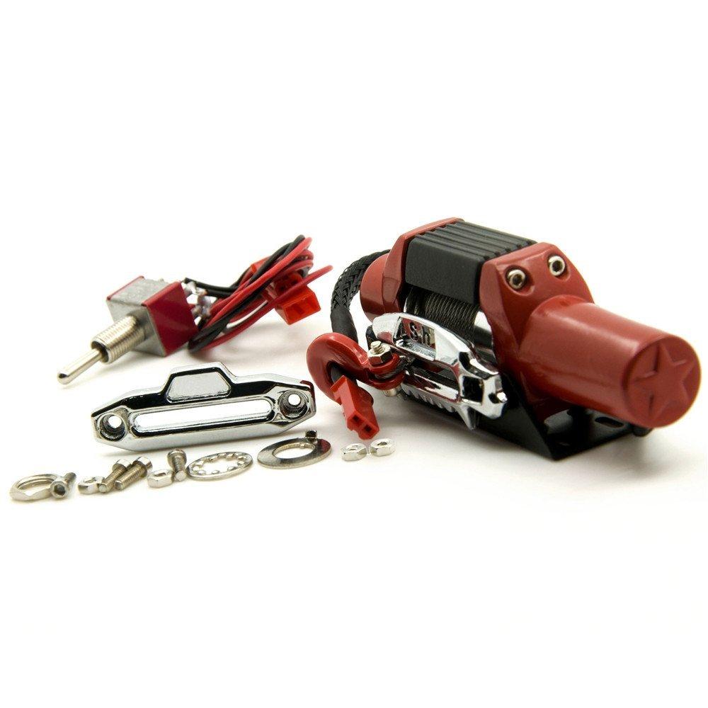 1/10 RC Car Crawler Metall Stahl Seilwinde Automatic Wired Winde Control System XUNJIAJIE