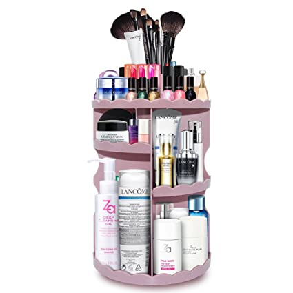 Exceptionnel PlusMart Makeup Organizer Storage, DIY Cosmetic Organizer Adjustable,360  Degree Rotating Makeup Organizer Countertop