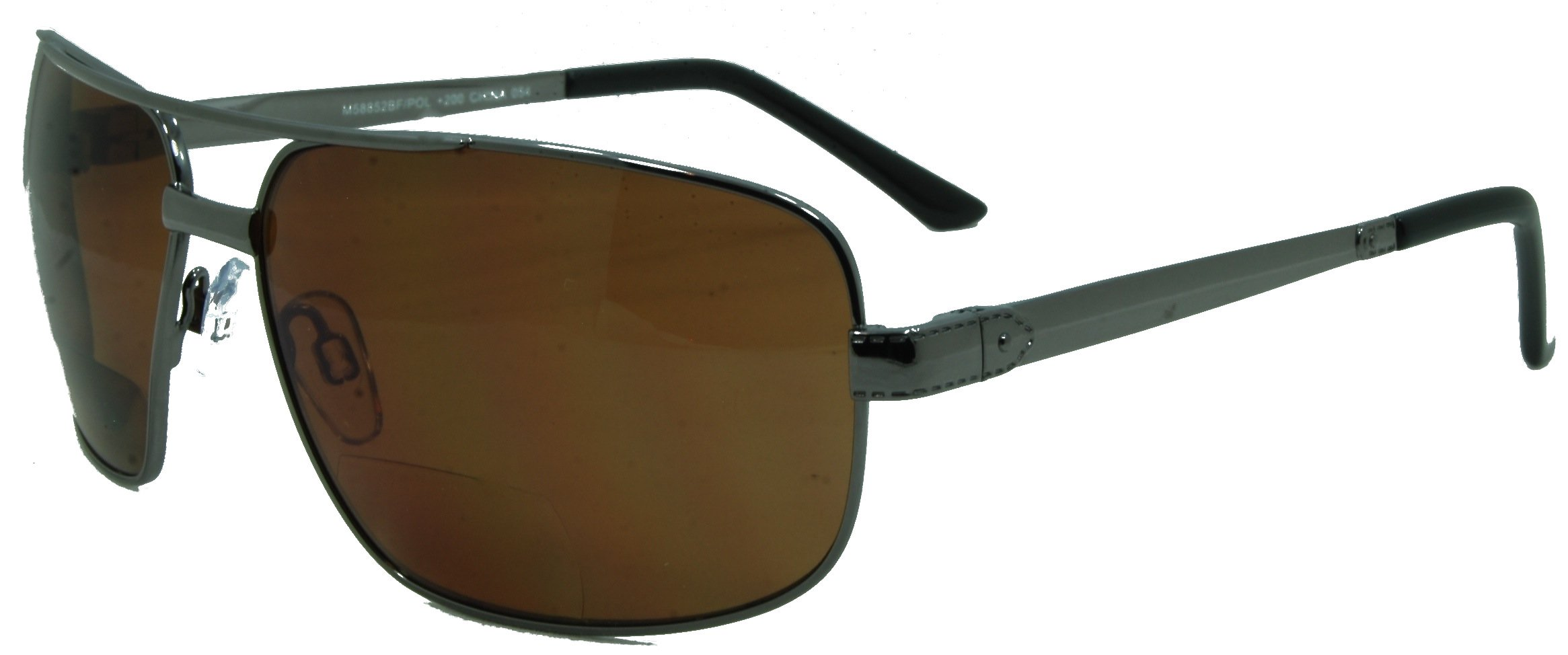 In Style Eyes Just Chillin Polarized Nearly Invisible Line Bifocal Sunglasses/Pewter-Brown/1.50 Strength by In Style Eyes