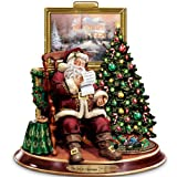 Thomas Kinkade The Joy Of Christmas Collectible Santa Claus Animated Musical Figurine by The Bradford Exchange