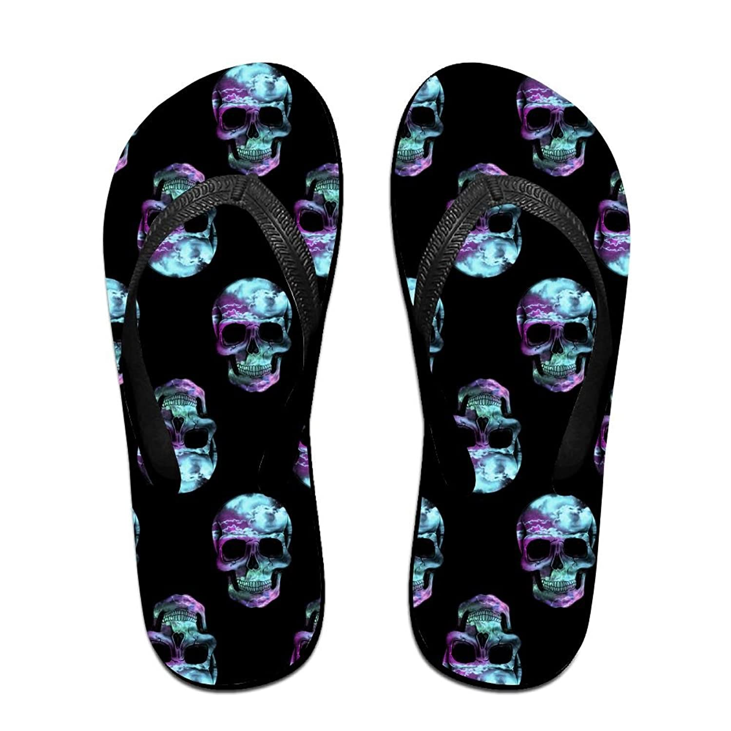 af27d43bb5ba Space Skull Galaxy Unisex Fashion Beach Sandals Classical Flip Flops Thong  Sandals chic