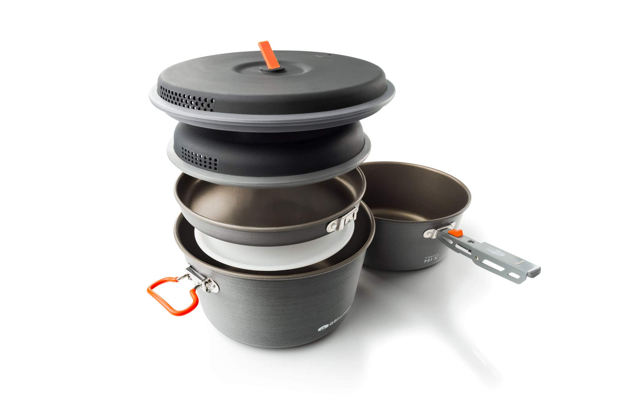 GSI Outdoors - Pinnacle Base Camper, Camping Cook Set, Large, Superior Backcountry Cookware Since 1985 by GSI Outdoors