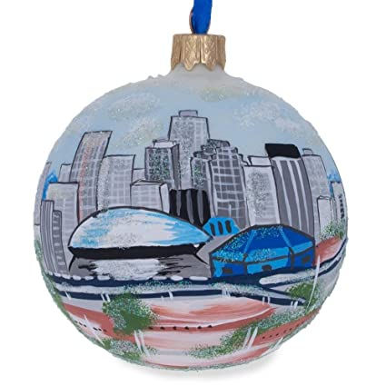 New Orleans Christmas Ornaments.Bestpysanky New Orleans Louisiana Glass Ball Christmas Ornament 3 25 Inches