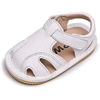 Sandalias Verano Bebé Niñas Niños Zapatos Cuero Suave de Primeros Pasos Bebé Ninos Calzado Playa Antideslizante Puntera…