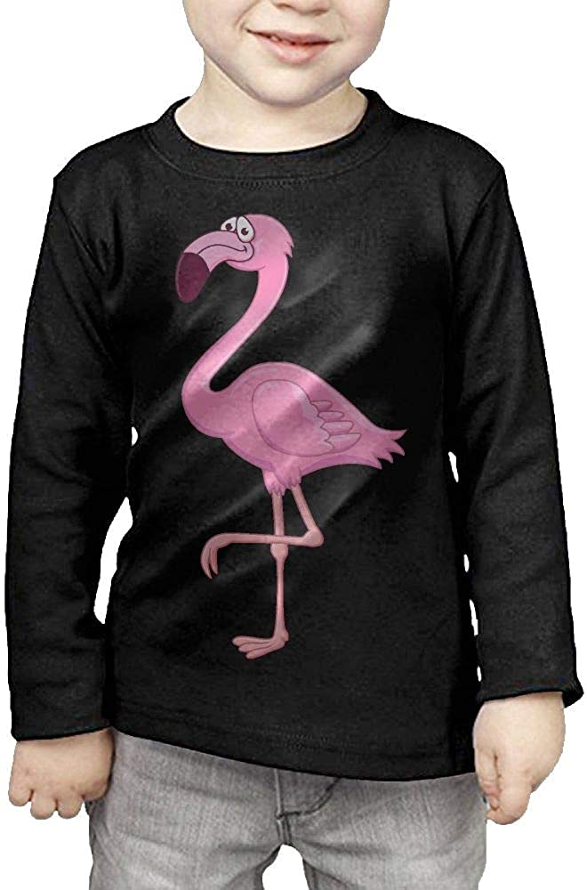 Baby Boys Kids Clipart Flamingo ComfortSoft Long Sleeve Tee