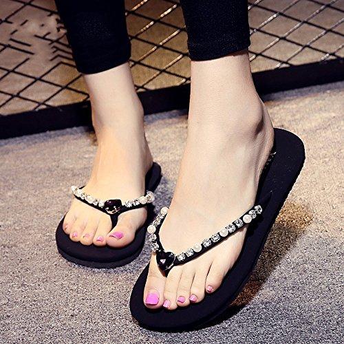 Mode Simple pour Couleurs 1 Chaussons Femmes Chaussures à UK4 la à Femmes HAIZHEN 5 CN37 pour d'été Pantoufles étudiant avec 9 Plage Couleur Plats EU37 la antidérapants 7 Taille 4 UzwqAE0wB