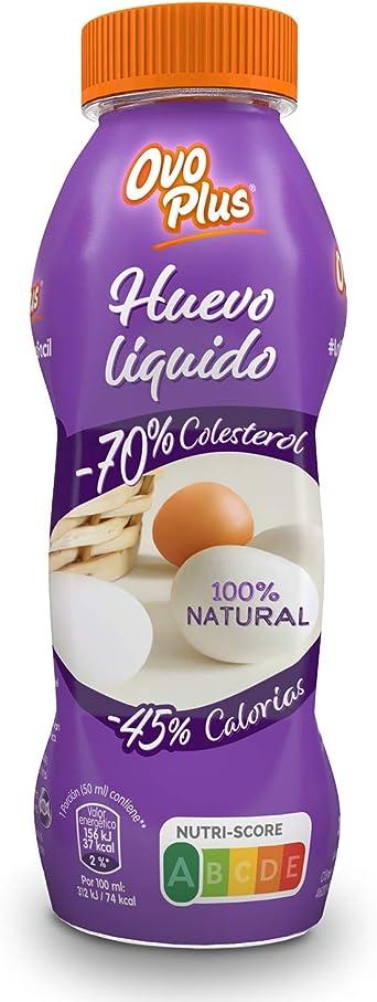 Huevo Líquido OVO PLUS | Saludable | Natural | 70% Menos de colesterol Y 45% Menos Calorías | Sin Aditivos | Sin Conservantes | Recetas Dulces y ...