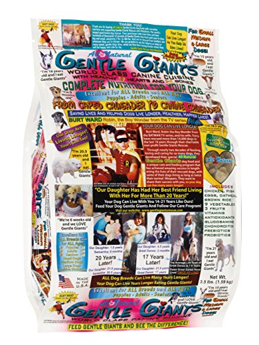 Gentle Giants Natural Dog Food, 33 lbs