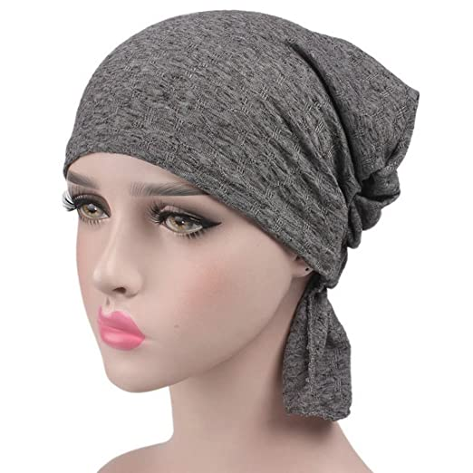 3252444a45d29 Udolove Womens Ruffle Chemo Hat Beanie Scarf