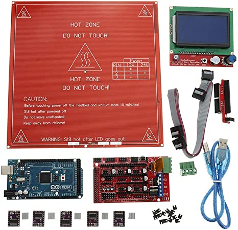 Kit de Placa Base para Impresora 3D RAMPS 1.4 + Arduino Mega 2560 ...