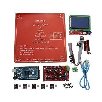 Kit de Placa Base para Impresora 3D RAMPS 1.4 + Arduino Mega ...