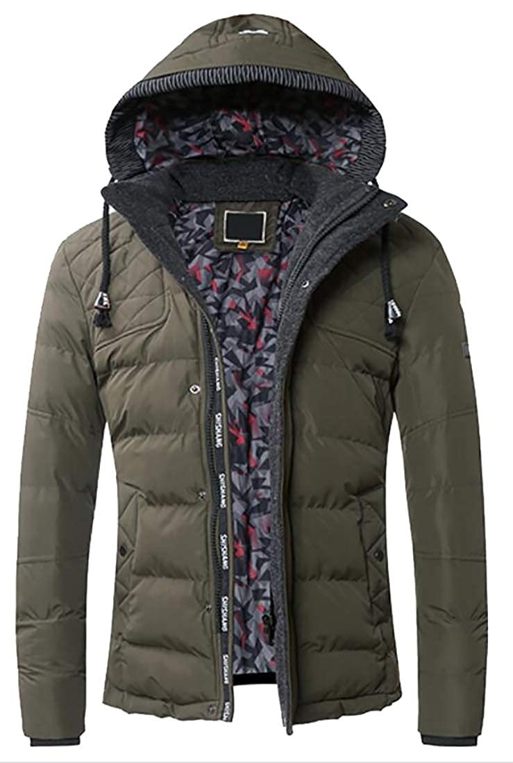 M/&S/&W Mens Lightweight Thicken Warm Packable Hooded Down Jacket
