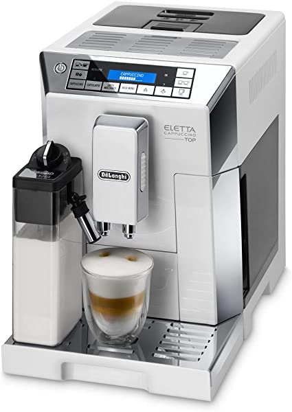 DeLonghi ECAM 45.766.W Cafetera Máquina espresso, Independiente, Molinillo integrado, 1450 W, 1,9 L, Acero inoxidable, Blanco: Amazon.es: Hogar