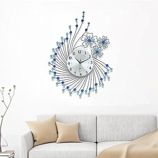 Amazon.de: Bidesen Home Deco Blume Wanduhr Wohnzimmer ...