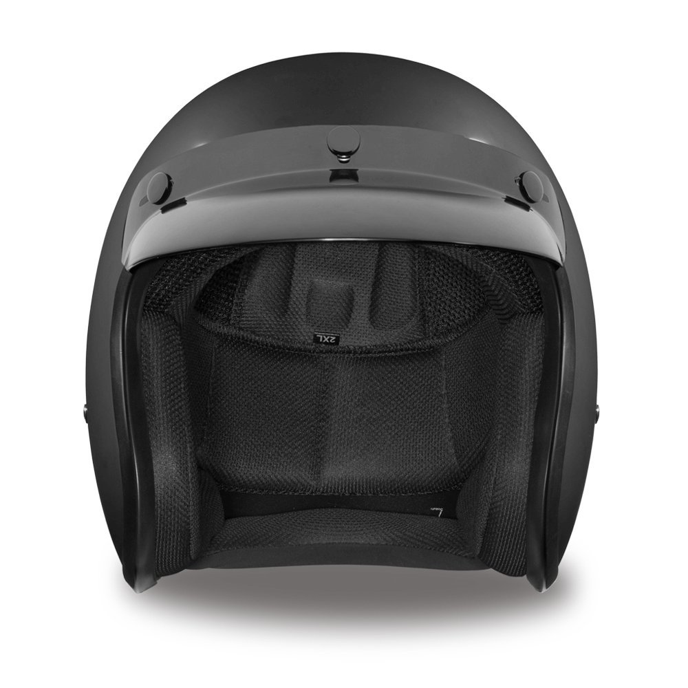 Amazon Daytona Helmets Cruiser Slim Line 3 4 Shell Dull Black Large With Head Wrap And Draw String Bag Automotive