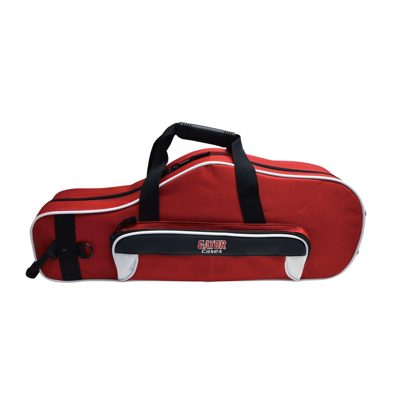 Gator GL-ALTOSAX-WR Lightweight Spirit Series Alto Saxophone Case, White and Red