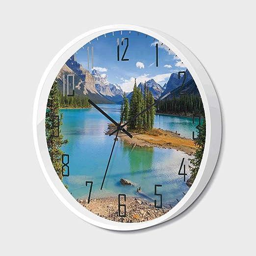 Amazon.com: Wall Clock Silent Non-Ticking Decorative Round ... on
