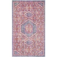 Safavieh Windsor Collection WDS311F Lavender and Fuchsia Vintage Distressed Bohemian Runner (3 x 10)