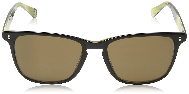Hackett Bespoke - Lunette de soleil HSB835 005 Wayfarer - Homme - Black Horn/ Brown Lens JJsIXf2