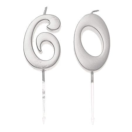 Happyyami 60 pastel de cumpleaños número de toppers de ...