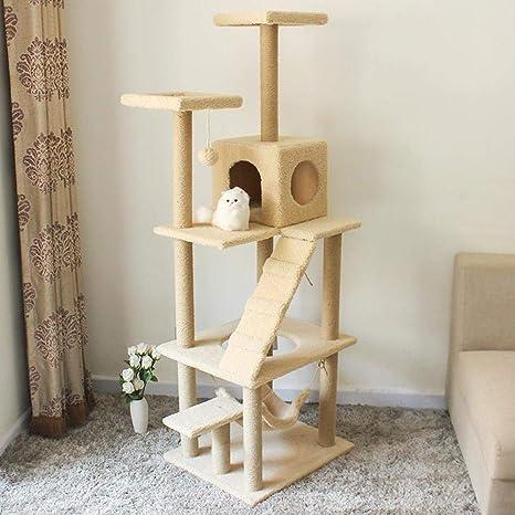 Axiba Árbol para Gatos Plataforma de Gato de Gato Grab Post Grab Tablero Madera