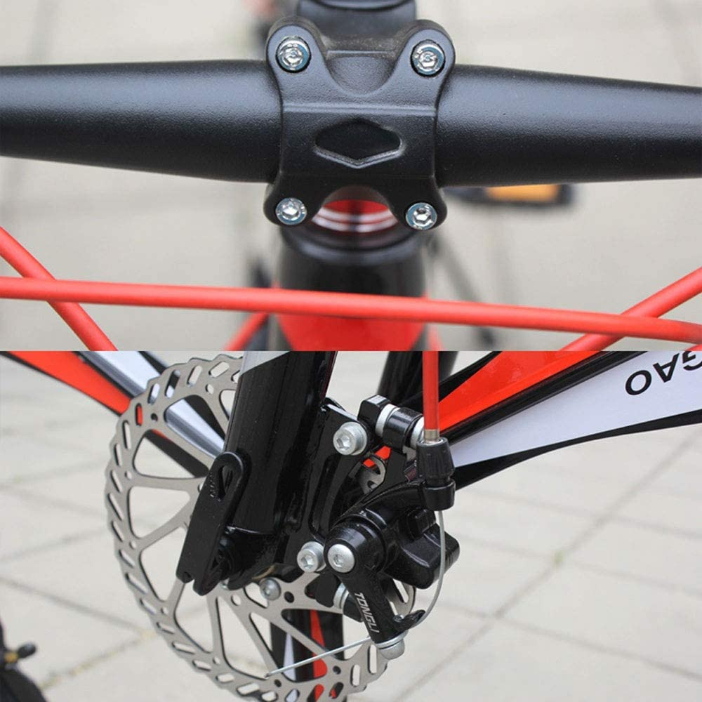 YXWJ 24/26 Pulgadas Bicicleta de montaña Bicicleta con Todas Aluminio Pedales IR a Trabajo de Camino a la Escuela en Bicicleta portátil con Frenos de Disco y suspensión Tenedor