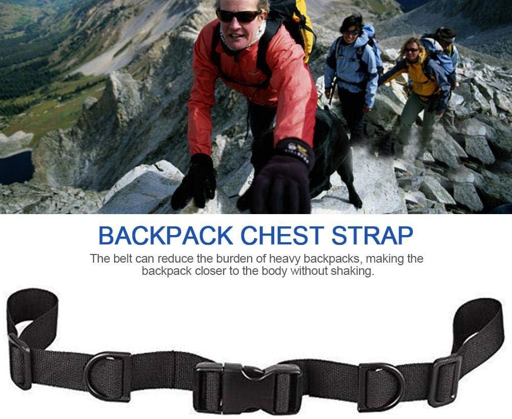 Heavy Duty Einstellbare Gurtband Rucksack Brustgurt Mit Quick Release Buckle F/ür Outdoor Wandern Und Joggen cineman Rucksack Brustgurt