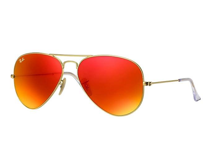 dd85551db8 Lentes De Sol Ray Ban Modelo Aviator, RB3025 112/69-Naranja: Amazon ...