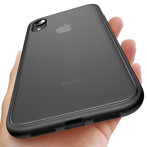 buy popular 0f215 efdd4 AINOPE Compatible iPhone XR Case, [Military Grade Drop Tested] iPhone Xr  Cover with Bumper Cushion Inside, Shock Absorption Translucent Matte ...