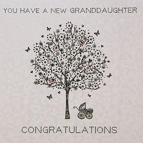 AG53 New Granddaughter Quality Handmade Granddaughter Card
