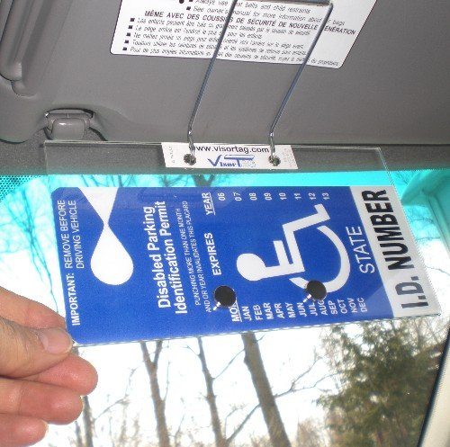 Handicap Placard Cover and Holder - Horizontal VisorTag VTDH130. Easily Display & Swing Away Your Disabled Parking Placard. Best Handicapped Parking Tag Holder and Protector Available. Don't Settle for a Cheap & Flimsy Cover you Buy Over & Over, You Deserve a VisorTag with. Patented and proudly Made in USA. ()