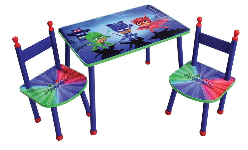 FUN HOUSE pyjamasques tavolo con 2sedie per bambini, MDF/metallo, 60x 40x 44cm CIJEP 712918