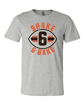 e1d569edc LivingTees Shake and Bake Baker Mayfield Cleveland Football Distressed T  Shirt    The Best Baker