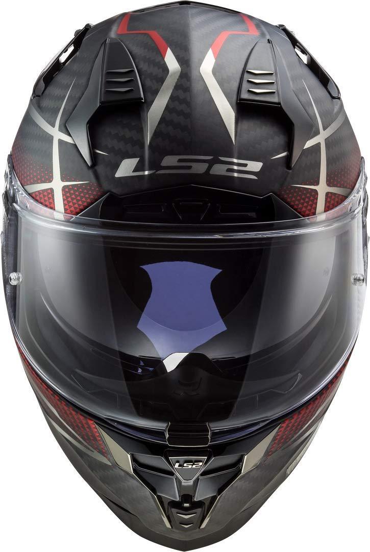 LS2 FF327 CT2 KONIC compite con el casco CARA LLENA casco de la moto ECE DVS rojo mate