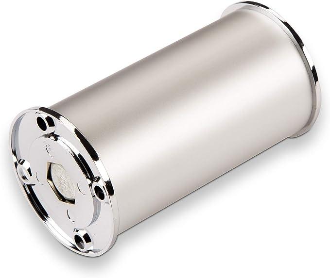 Sotech SO-Tech® Juego de 4 Patas de Mueble Pata del Armario Regulable en Altura 100 mm Plata Ø 50 mm