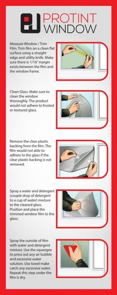 Aello Glass Protection Film |28'' x 26'| Security Window Film UV Protection | Glass Protection Film Helps Defend Against ultraviolet ray, Burglars, Violent Home Invaders (28in x 26ft)