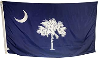 product image for 12x18 South Carolina State Boat Flag - All Weather Nylon & Reinforced Fly End Stitching - Made in USA
