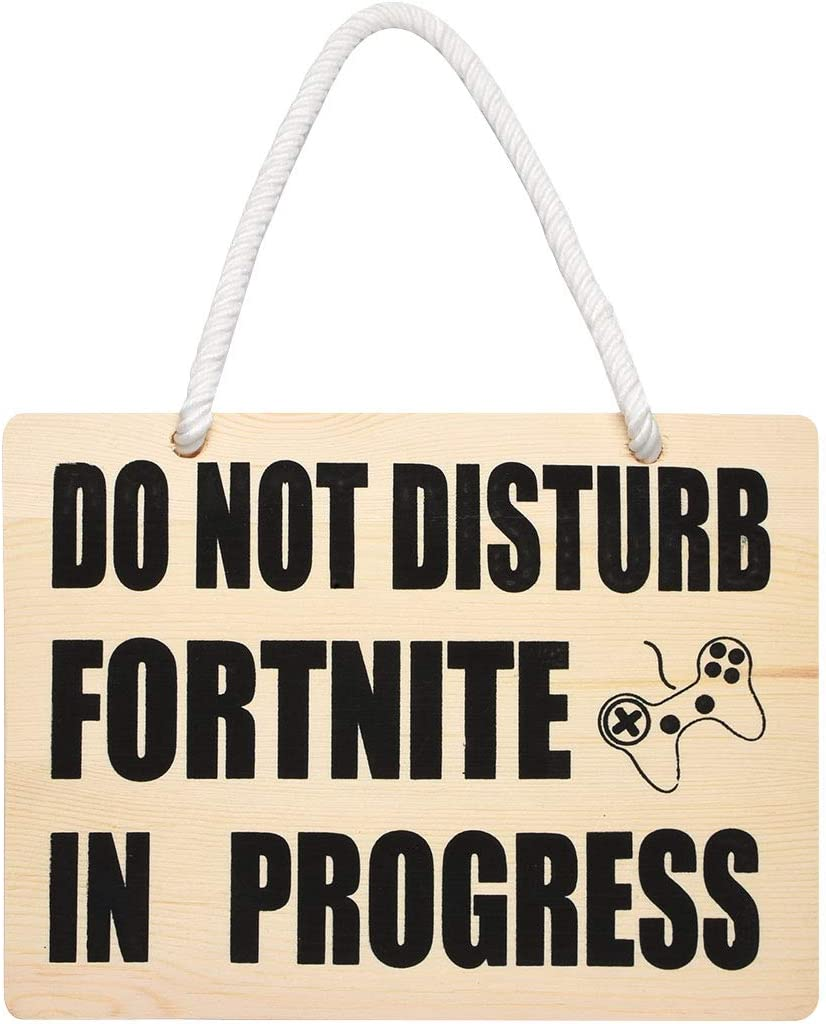 Cualfec Do Not Disturb Gift Door Sign Big & Thick Wood Material Funny Gift for Game Lover