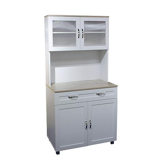 HTI-Line - Armario de Cocina para microondas, Color Blanco: Amazon ...