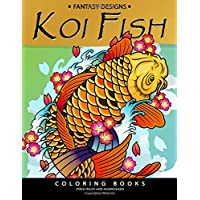 Koi Fish Coloring Book: Animal Stress-relief Coloring Book for Adults and Grown-ups