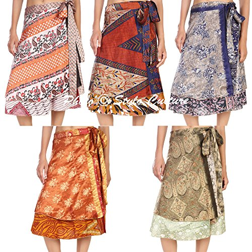 Stylo Culture Bohemian Short Wrap Around Skirt Wholesale Magic Wrap Womens Wrap Skirt 100 Pc