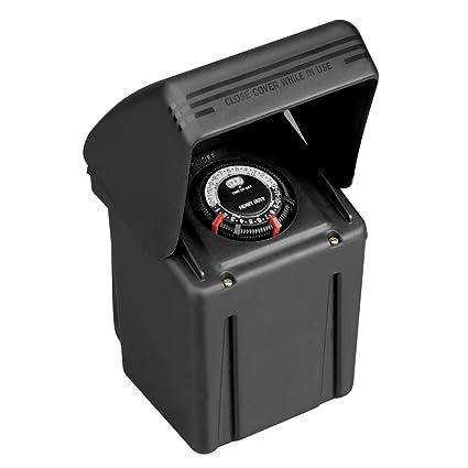 Malibu 8100-9200-01 200 Watt Low Voltage Power Pack Transformer, Black Matte