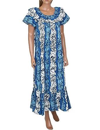 bf34b0f3f53 Made in Hawaii ! Women's Floral Panel Hawaiian Aloha Muumuu Dress at ...