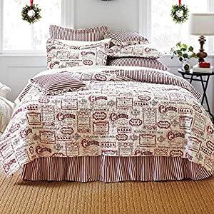 BrylaneHome Vintage Christmas 4-Pc. Quilt Set