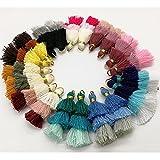 Pamir Tong 20pcs Triple Layer Ombre Tassel, Dangle Earrings Statement Layered Tassel Drop Earrings , Cotton Tassels GD190