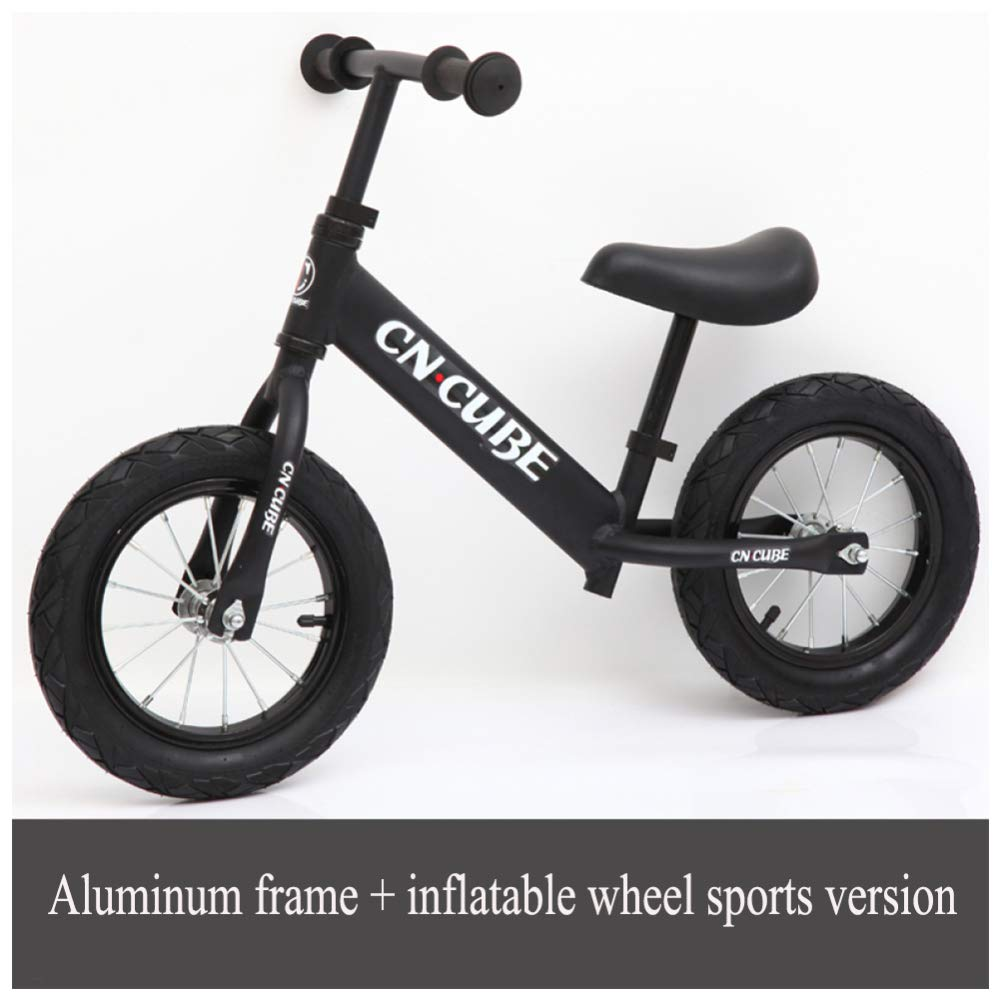 CHRISTMAD 12 & 039;& 039; Kids Balance Bike Ultralight Aluminiumlegierung Rahmen, Babys Erstes Fahrrad Eva Gummirad Verstellbare Höhe 2-6 Jahre Alt80-120cm,D