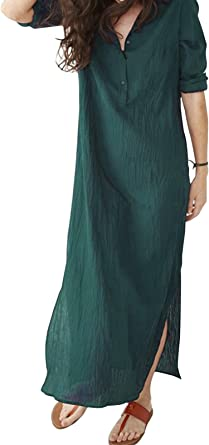 Elegant 3//4 Sleeved Blue Khaki Green V-Neck Blouse Shirt Top Size 6 10 12 14 16